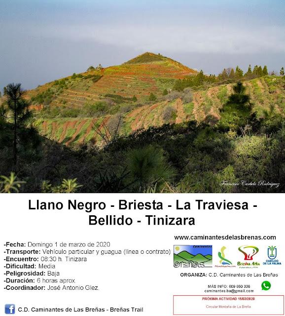Caminantes de Las Breñas, Domingo 1 de Marzo: Llano Negro-Briesta-La Traviesa-Bellido-Tinizara