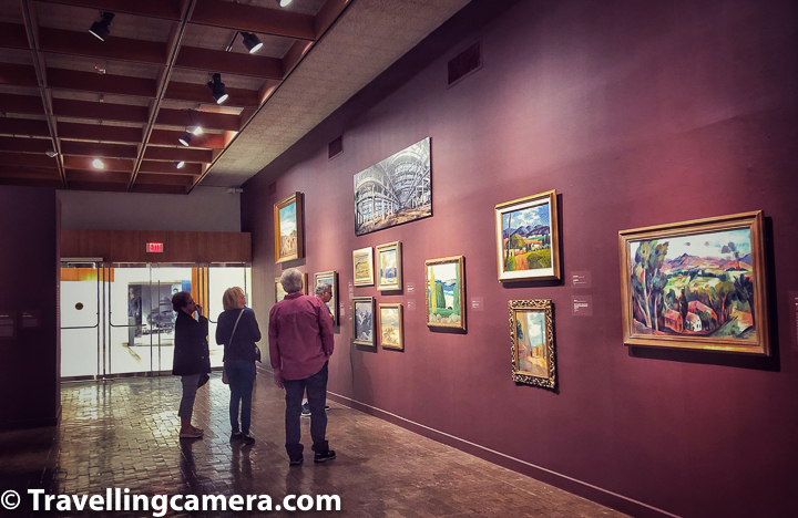 Above photograph shows the gallery with lot of paintings by New Mexico arts on how things evolved in Albuquerque.