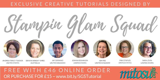 Stampin Glam Squad Exclusive Creative Tutorials Bundle from Mitosu Crafts