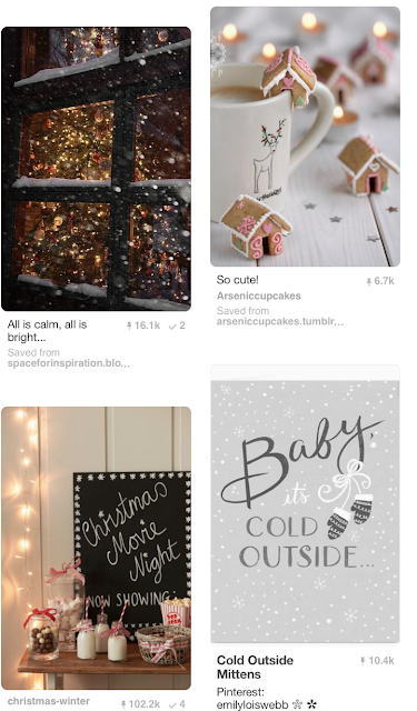 Pinterest never fails to get me in the mood for things and Christmas is one of them!  It's a social platform I turn to when looking for inspiration for anything from outfits to makeup looks. At Christmas time it's perfect for getting in to the festive spirit. I can't get enough of the pretty lights and glistening snow scenes. What more could you want, it doesn't get more Christmassy than that!