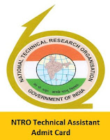 NTRO Technical Assistant Admit Card