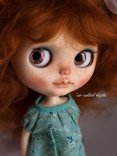 Fiona OOAK custom doll hazelnut eyes