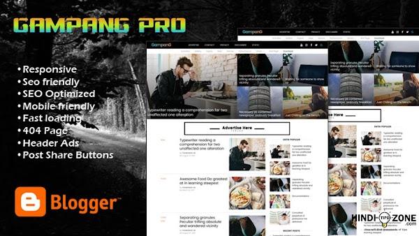 Gampang Premium Blogger Template Free Download (Working)