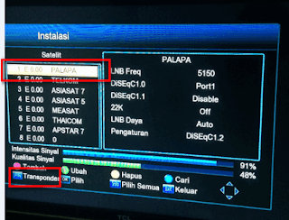 Cara Scan atau Searching Ulang Metro tv HD