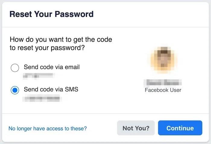 استعادة كلمة مرور حساب Facebook إعادة تعيين كلمة المرور