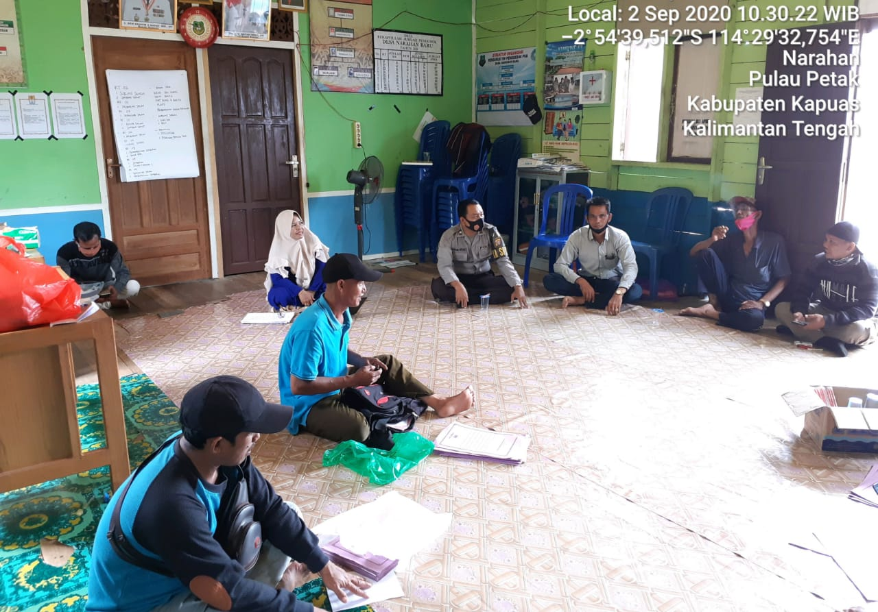 Polsek Pulau Petak Aktif Sosialisasi Anjuran Pemerintah Cegah Covid-19