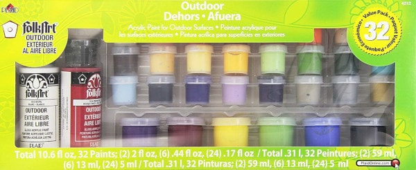 FolkArt Outdoor Acrylic Paint Set (32 Colors)