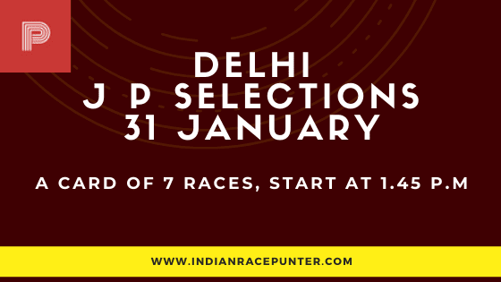Delhi Jackpot Selections 31 January, Jackpot Selections by indianracepunter,