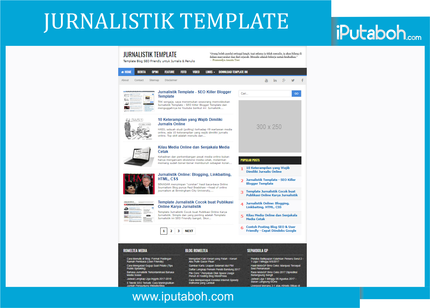 Jurnalistik Template - Responsive Blogger Templates - iPutaboh ...