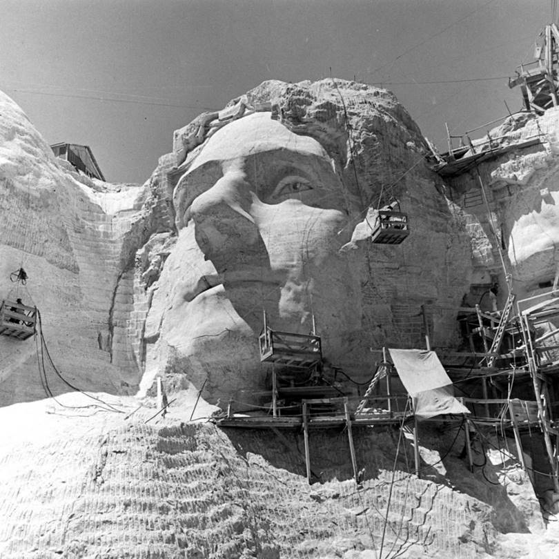 Sculpture by Thomas Jefferson, circa 1941.