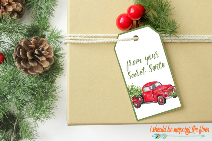Printable Secret Santa Tags