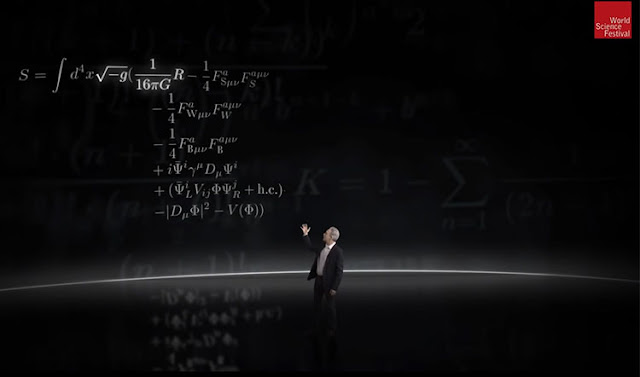Brian Greene introduces the short hand view of the Standard Model (Source: Brian Greene, WSF)