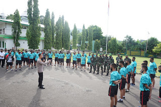 Tingkatkan Tali Silaturahmi, Kapolres Enrekang Bersama PJU Berkunjung ke Kodim