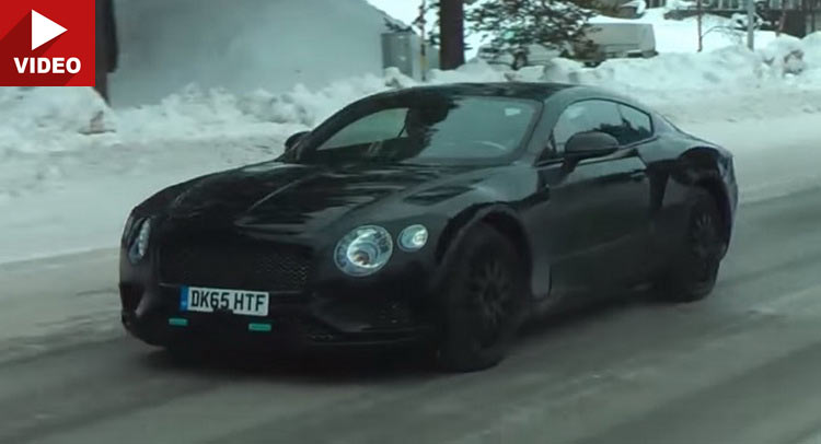 The new Continental GT has been caught on camera in spite of being ...