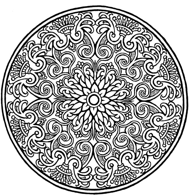 water mandala coloring pages | inkspired musings: The Language of Flowers - Water Lily