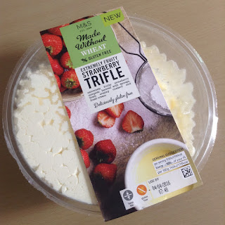 marks and spencer made without wheat strawberry trifle