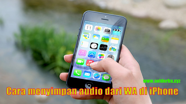 cara menyimpan pesan audio dari WhatsApp di iPhone