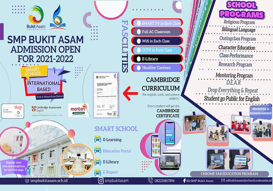 PPDB SMP Bukit Asam Tahun 2021