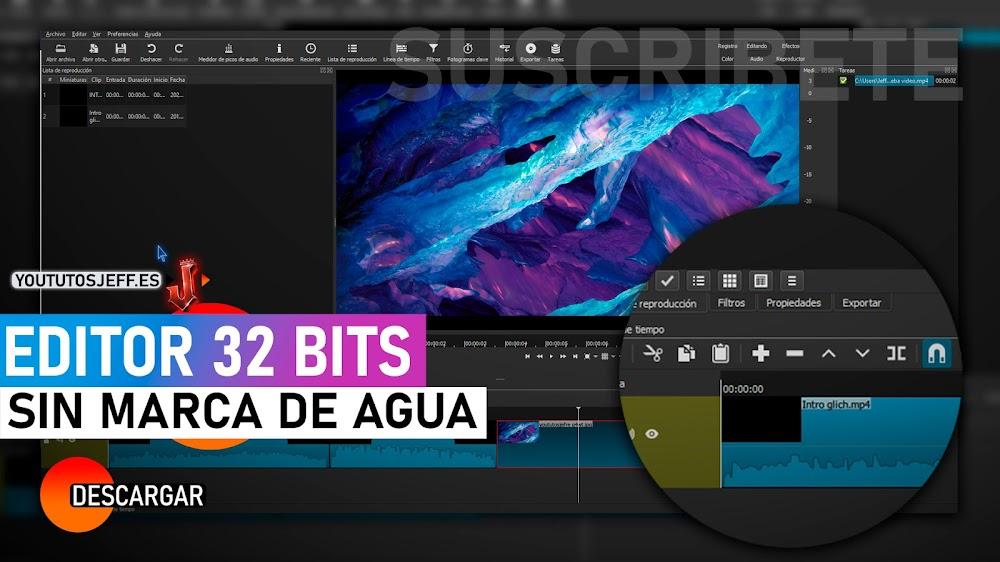 Descargar Shotcut 32 BITS para PC   Editor de Video SIN MARCA DE AGUA