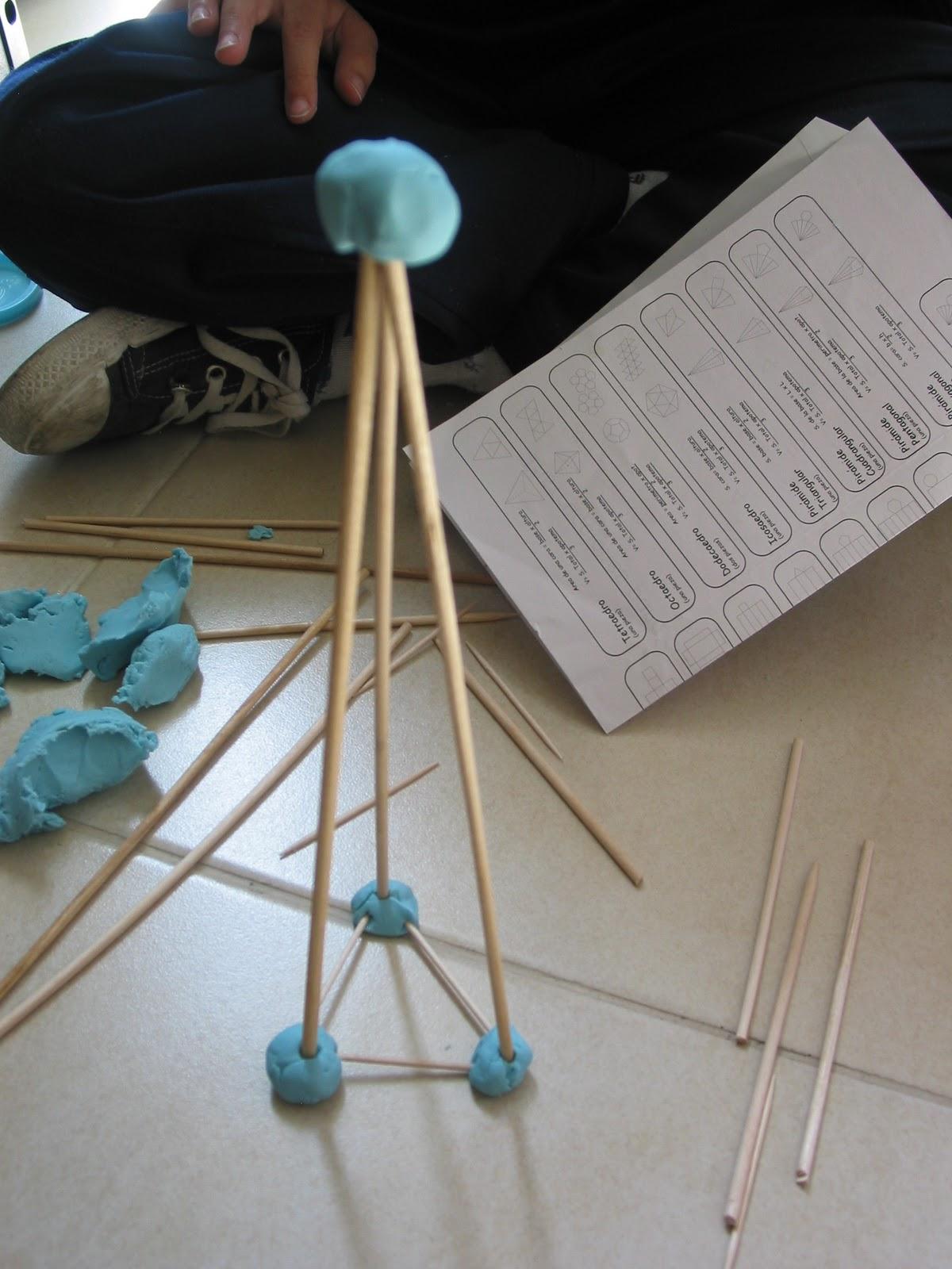 Construcción De Cuerpos Geométricos Con Palitos Y Plastilina Comunidad Alas