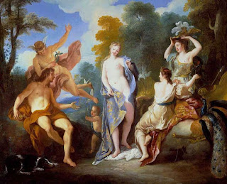 Ato I Cena V - Livro Pequeno Teatro da Ilíada e Odisseia - The Judgement of Paris - Jean-François de Troy (1679-1752)