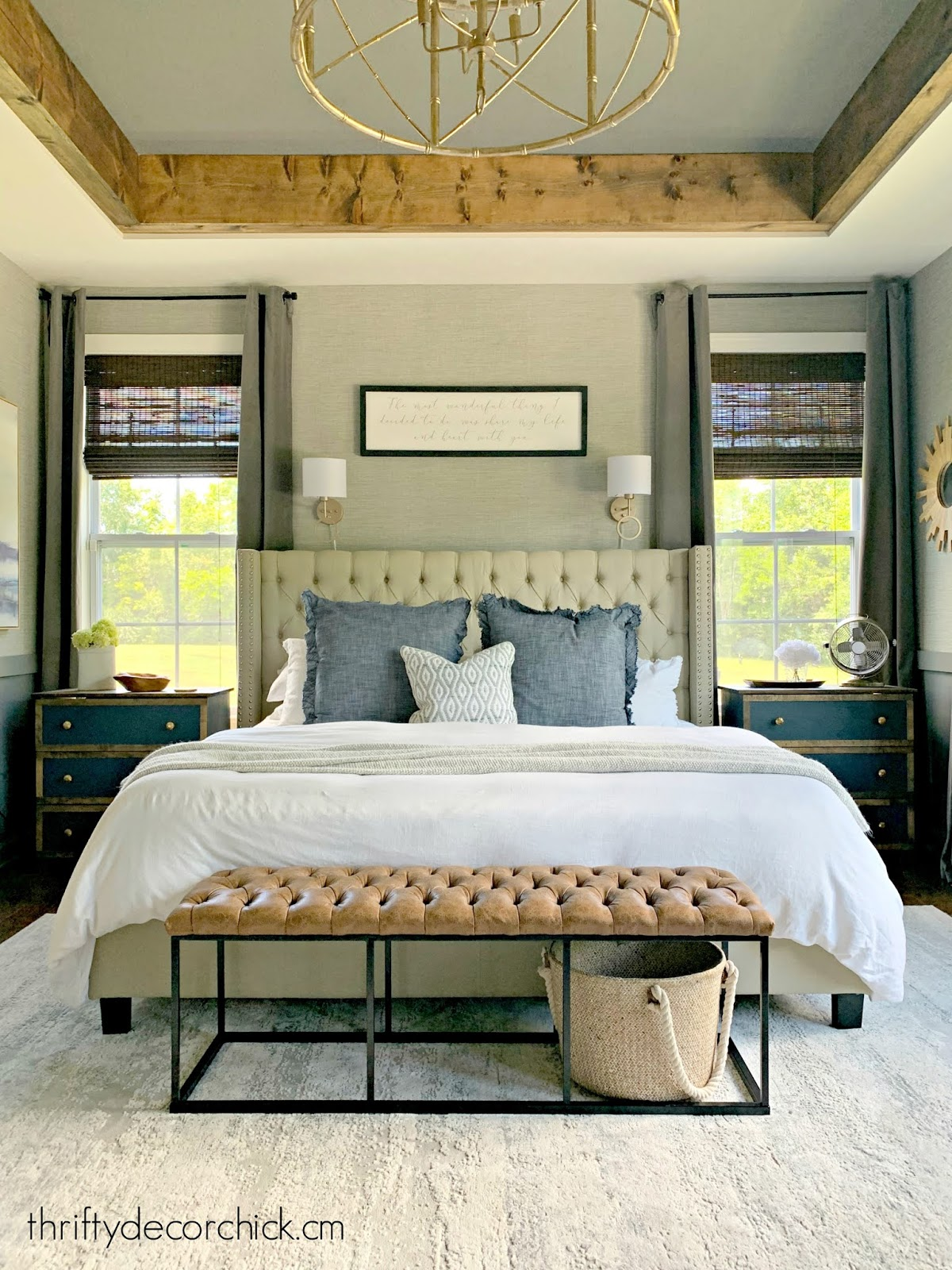 symmetrical windows bed