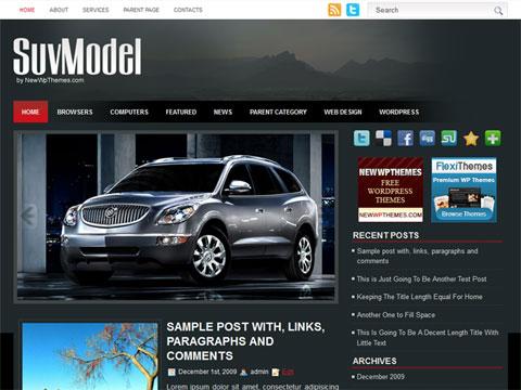 SuvModel Free WordPress Theme