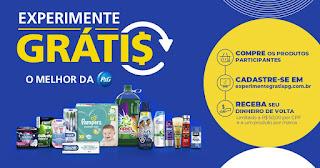 Promoção Experimente Grátis P&G 2019