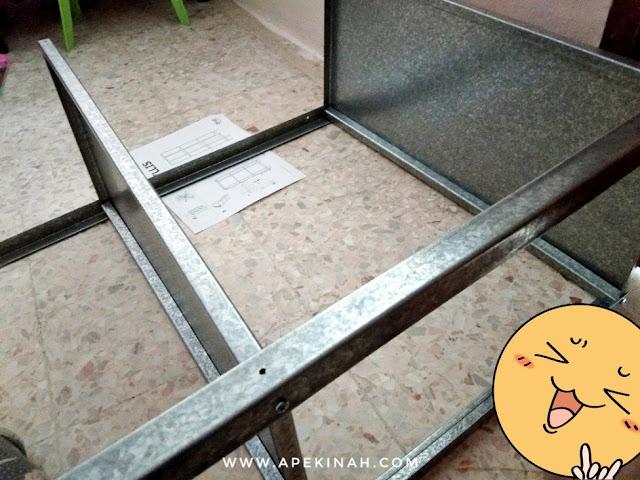 Rak IKEA Hyllis, rak untuk ruang dapur, rak yang sesuai untuk dapur yang sempit, rak IKEA, rak untuk dapur