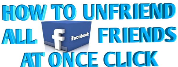 How To Delete All Friends On Facebook