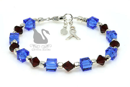 Mixed Crystal Pulmonary Fibrosis Awareness Bracelet (B022-D3)