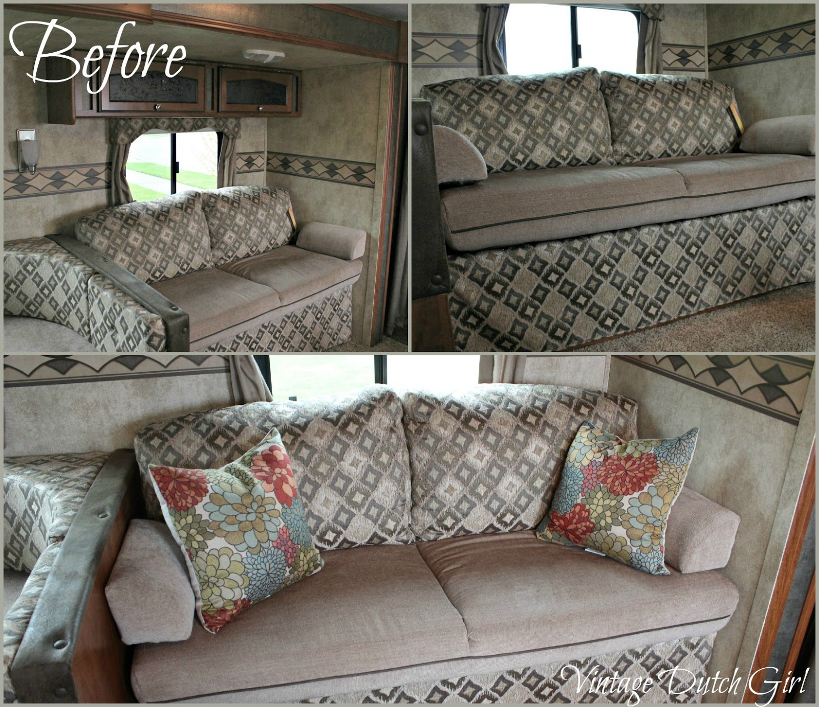 Vintage Dutch Girl Travel Trailer Makeover Part 7 Chevron