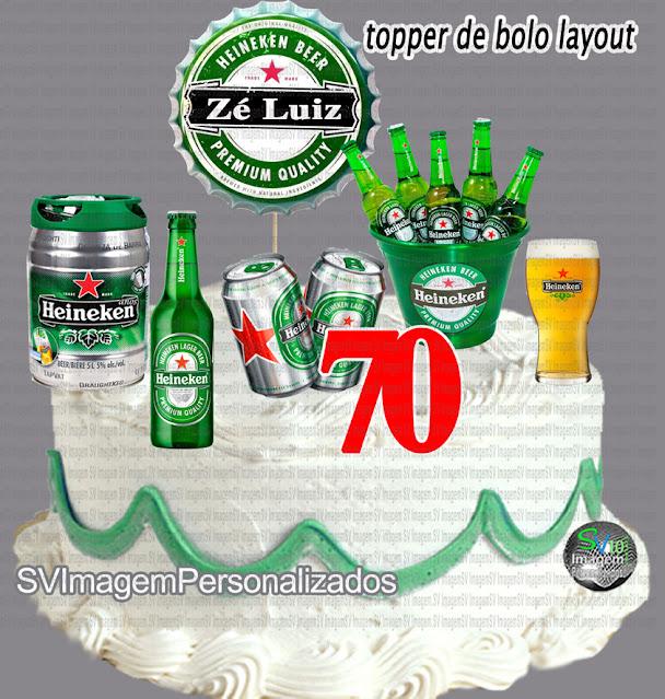 Heineken Festa Boteco dica decoração , os preços mais baratos para personalizados topper de bolo