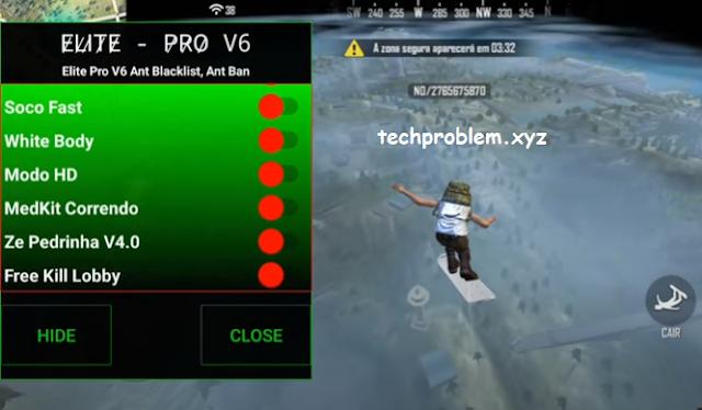 Free Fire Mod Menu Elite Pro V6 Headshot Anti Blacklist Antiban