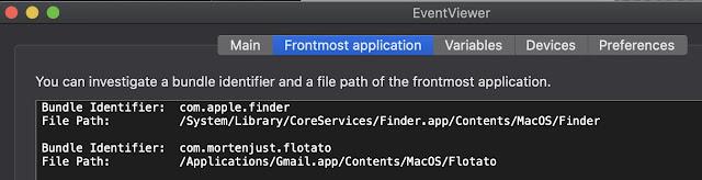 Screenshot EventViewer