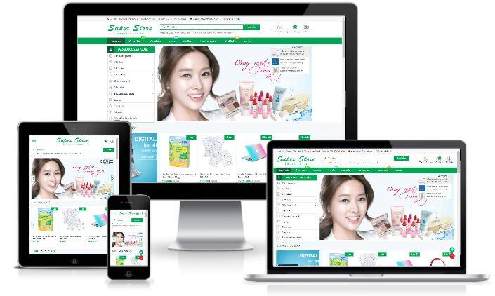 Giao diện blogspot Super Store bán hàng miễn phí