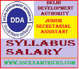 DDA JSA Syllabus / Salary