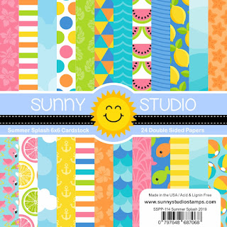 Sunny Studio Stamps: Slice of Summer 6x6 Double-Sided Patterned Paper Pack - 24 Sheets