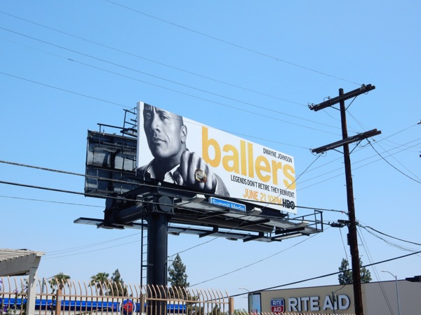 Ballers HBO series launch billboard