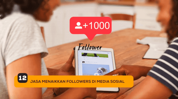 12. Jasa Menaikkan Followers di Sosial Media