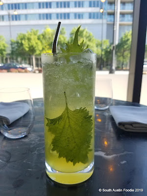 Shizen cocktail at Yugen: chrysanthemum vodka, shiso, yuzu