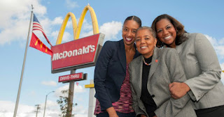 Patricia Williams and her daughters, owners of 13 McDonald's Franchises