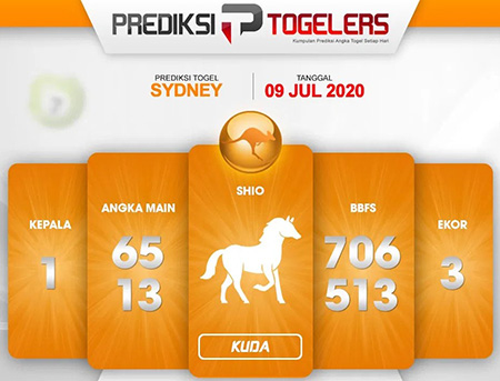 Prediksi Togelers Sidney Kamis 09 Juli 2020