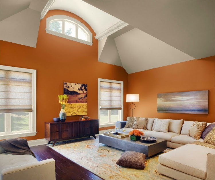Trendy living room paint colors and color combinations in 2015 - living room paint colors ideas