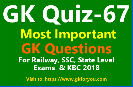 General Knowledge Quiz-67 I General Knowledge Questions