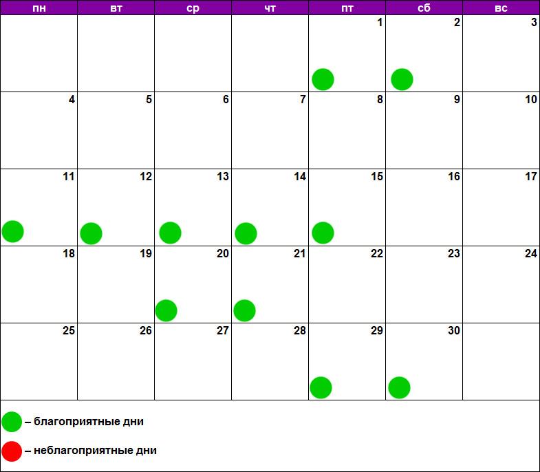 Лунный календарь массажа ноябрь 2019