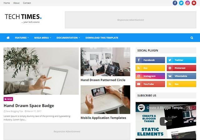 TechTimes Blogger Template