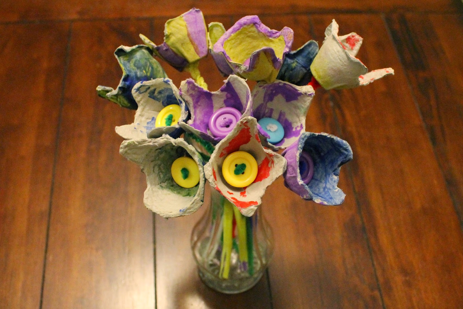May Day Egg Carton Flowers
