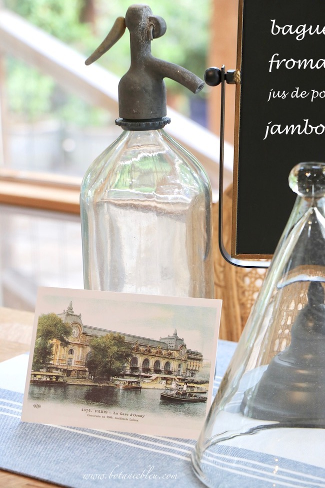 French Country Kitchen Summer to Fall Paris Postcard in Table Vignette