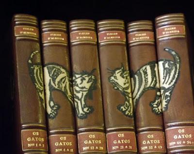 coleção de livros decorados